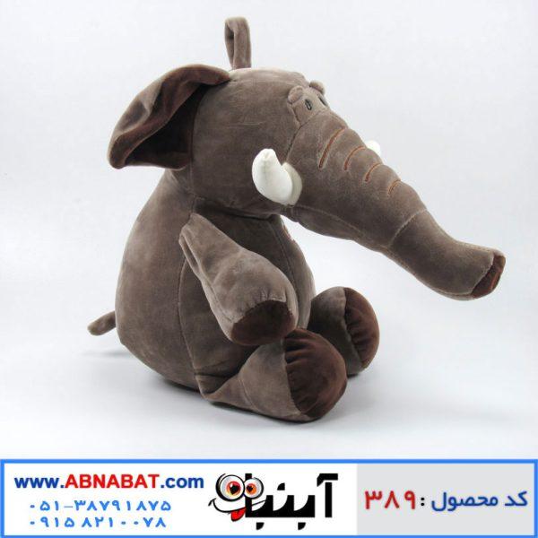 عروسک فیل قهوه ای بزرگ