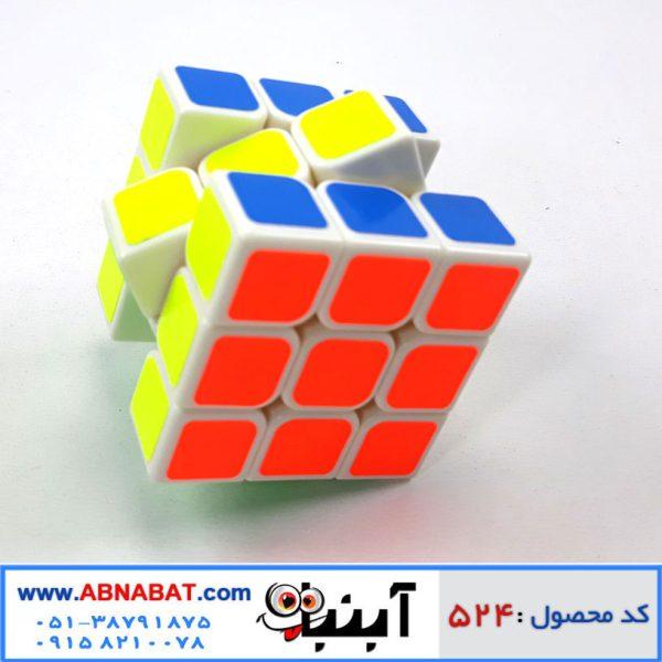 مکعب روبیک استیکری 3*3 زمینه رنگی