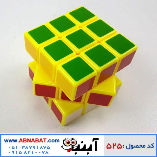 مکعب روبیک استیکری 3*3 زمینه زرد