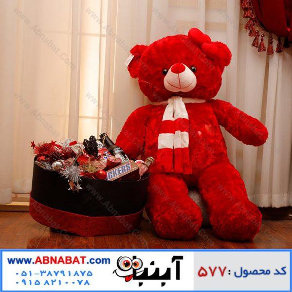 عروسک خرس قرمز ویژه ولنتاین