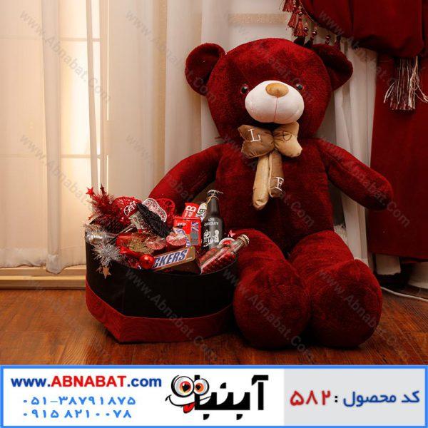 عروسک خرس قهوه ای بزرگ ویژه ولنتاین