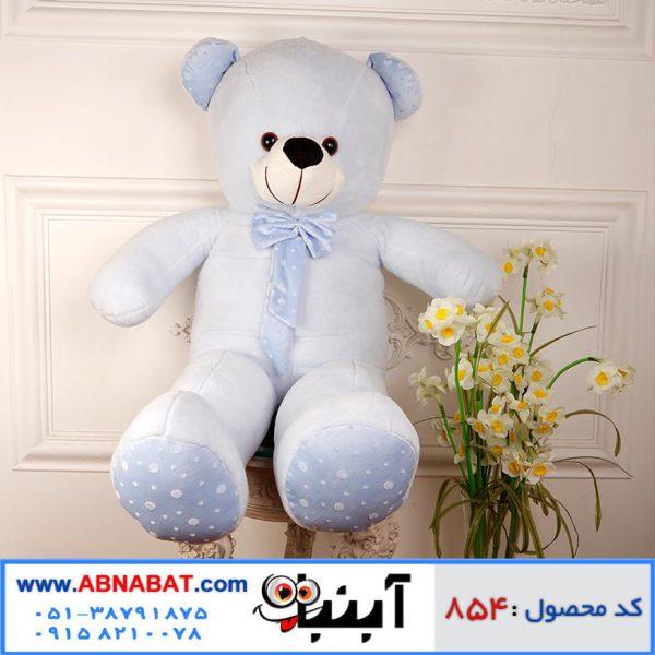 عروسک خرس بزرگ رنگ آبی