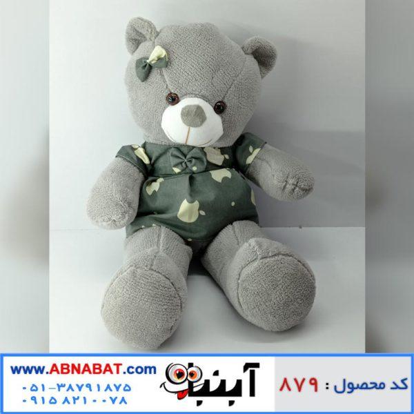 عروسک خرس دخترانه خاکستری