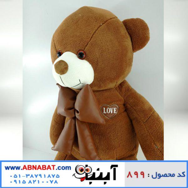 عروسک خرس قهوه ای پاپیون دار