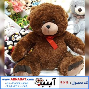 عروسک خرس قهوه ای بانمک خارجی